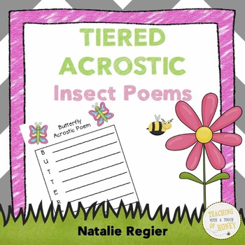 Insect Acrostic Poems: Tiered Writing Templates