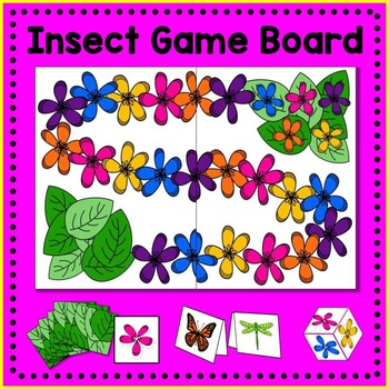 Insect Board Game Math Center