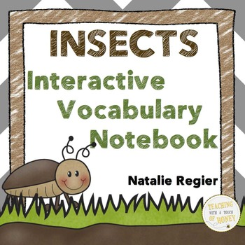Insect Interactive Vocabulary Notebook: Tiered Template Options