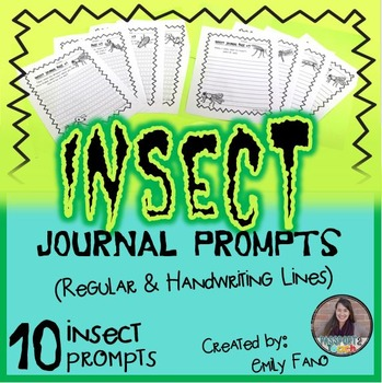 Insect Journal Writing Pages