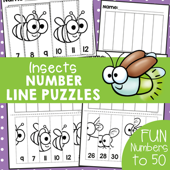 Insect Number Line Puzzles