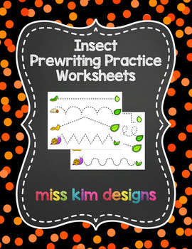 Insect Prewriting Worksheets