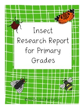 Insect Research Project Mini Book for Primary Students