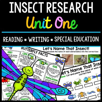 Insect Research - Special Education - Reading - Writing -