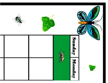 Insect Calendar! Insect Bulletin Board! Bug Theme! Insect