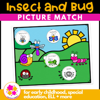 Insect Vocabulary Folder Game for students with Autism