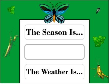 Insect Weather Chart! Insect Bulletin Board! Insect Theme!
