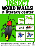Insect Word Walls and Literacy Center