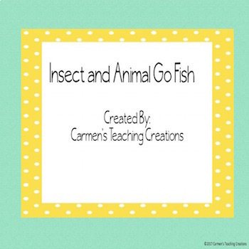 Insect and Animal Go Fish