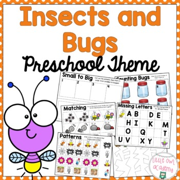 Insect and Bug Early Learning Preschool Packet