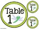 Insect/Bug Theme Table & Group Labels