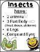 Insects Activities & Crafts for preschool, kindergarten, f