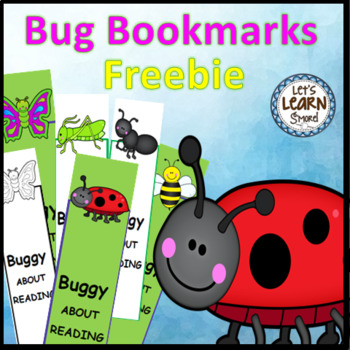 Bug and Insect Activities Bookmarks (Free) Activities