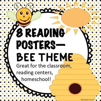 Reading Posters Bees Theme