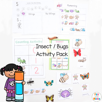 Insects + Bugs Printable Activity Pack for Preschool + Pre K