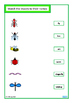 Insects Fine Motor Skills, Matching, Write & Wipe Cards Se
