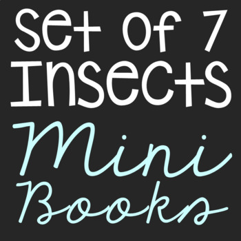 Insects Mini Book Research Templates, Set of 7, Interactiv