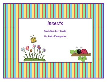 """""""Insects"""" Predictable Easy Reader"""