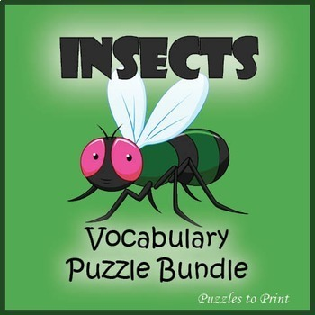 Insects Vocabulary Puzzle Bundle