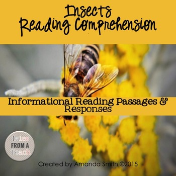 Reading Comprehension Passages: Nonfiction Insects