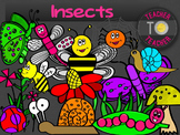 Insects {TeacherToTeacher Clipart}