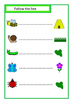 Insects Matching Write and Wipe Cards, FREEBIE, Autism, Sp