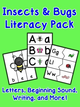 Insects and Bugs Literacy Pack