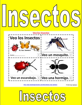 Insects in Spanish 2 Emergent Reader Booklets - Los Insectos