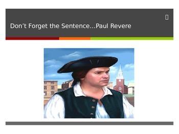 Insert The Sentence- Coherent Paragraph Game (Paul Revere)
