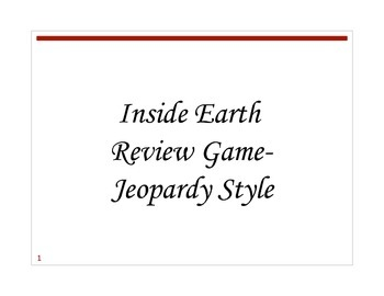 Inside Earth Review Game- Jeopardy Style (volcanoes)