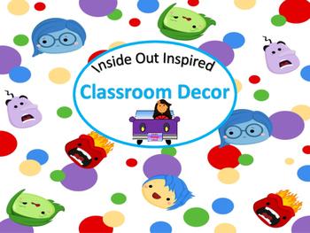 Inside Out Inspired Classroom Starter Set