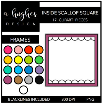 Inside Scallop Square Frames {Graphics for Commercial Use}