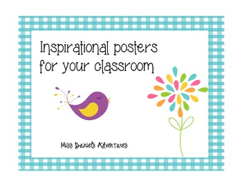 Inspiration Posters for the Classroom