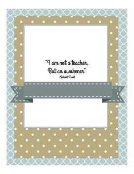 Inspiration for teachers Binder Style