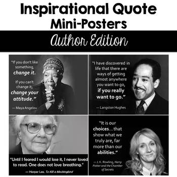 Inspirational Quote Mini Posters - Authors