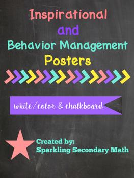 Inspirational + Behavioral Management Classroom Posters