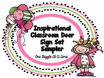 Inspirational Classroom Door Sign Set Sampler