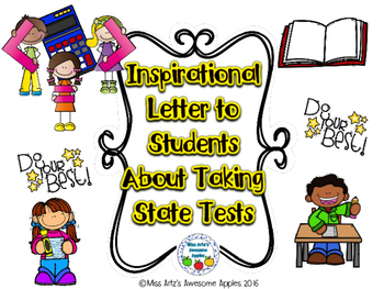Inspirational Letter to Students for State Testing