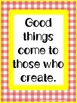 Inspirational Messages in Primary Gingham Decor