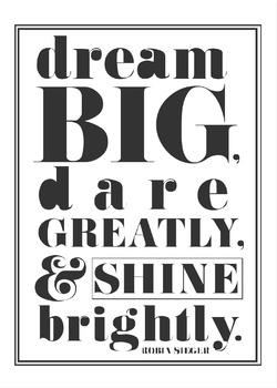 Inspirational/ Motivational Classroom Decor Poster