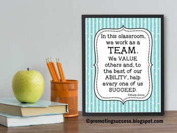 teamwork definition quote poster for classroom teacher kids