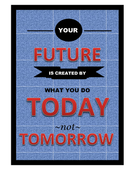 Inspirational Poster-Denim