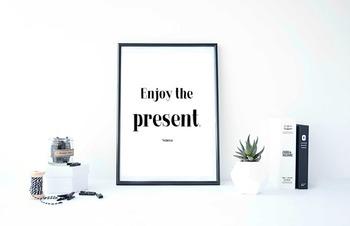 "Inspirational Poster ""Enjoy the present.""- Seneca-"