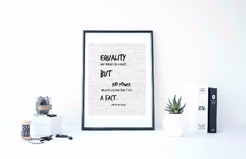 Inspirational Poster, Equality may perhaps be a right, but