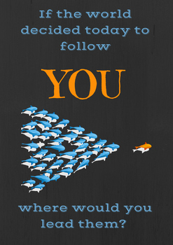 Inspirational Poster- Follow
