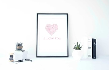 "Inspirational Poster, ""I LOVE YOU"", VALENTINES DAY."