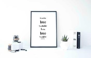"Inspirational Poster ""It's not the love you make.""-Nikola Tesla-"