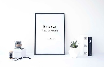 "Inspirational Poster,  ""New York: A third-rate Babylon..-"