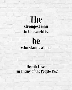 "Inspirational Poster, ""The strongest man in the world is h"
