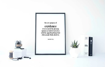 Inspirational Poster, The very purpose of existence is to